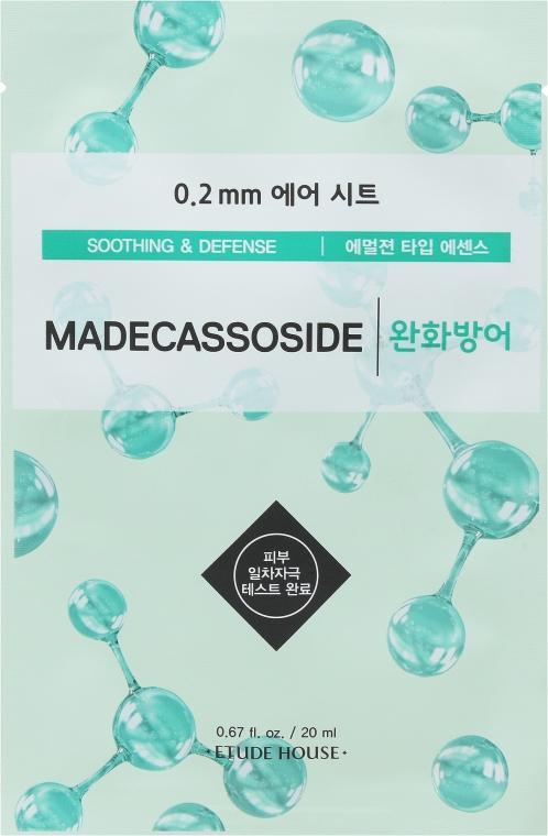 "Маска тканевая для лица ""Мадекассосид"" - Etude House 0.2 Therapy Air Mask No.Madecassoside"