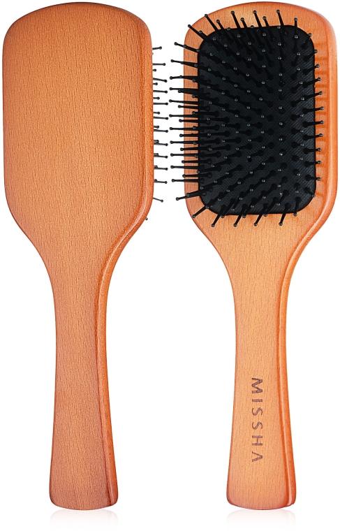 Расческа для волос - Missha Wooden Cushion Medium Hair Brush