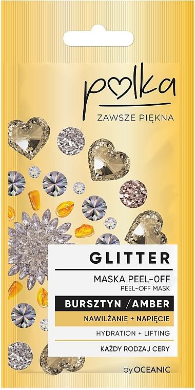 Отшелушивающая маска с янтарем - Polka Glitter Peel Off Mask Amber