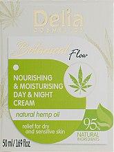 Духи, Парфюмерия, косметика Крем для лица - Delia Botanical Flow Nourishing & Moisturizing Hemp Oil Day & Night Cream
