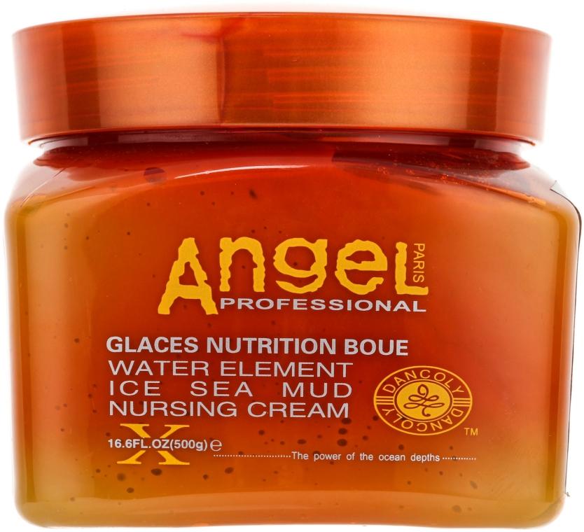 Питательный крем для волос с замороженной морской грязью - Angel Professional Paris Water Element Ice Sea Mud Nursing Cream