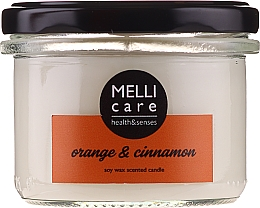 "Духи, Парфюмерия, косметика Ароматическая свеча ""Апельсин и корица"" - Melli Care Orange & Cinnamon Soy Wax Scented Candle"