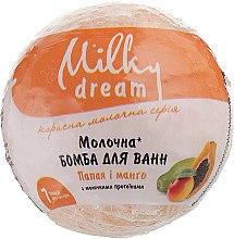 """Духи, Парфюмерия, косметика Бомба для ванн """"Папайя и манго"""" с молочными протеинами и маслом льна - Milky Dream"""