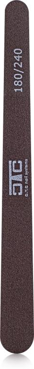 "Пилка ""Капля"" коричневая, пластик, 180/240 - C.T.C Nail Systems"