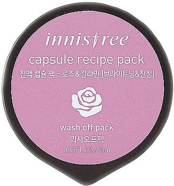 Капсульная маска для лица на основе экстракта розы и каламина - Innisfree Capsule Recipe Pack Rose & Calamine