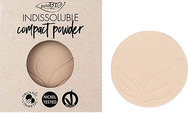 Компактная пудра для лица - PuroBio Cosmetics Compact Powder (сменный блок)