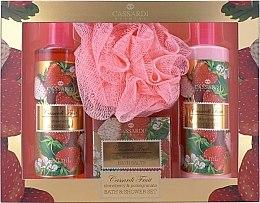 Духи, Парфюмерия, косметика Набор - Cassardi Fruit Strawberry And Pomegranate (b/lot 250 ml + sh/gel 250 ml + salt/100 g + sponge)