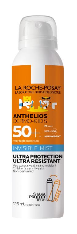 Солнцезащитный ультралегкий водостойкий спрей-мист для чувствительной кожи детей, SPF 50+ - La Roche-Posay Anthelios Dermo-Pediatrics Invisible Mist SPF50+