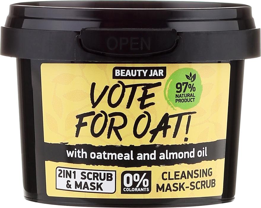 """Очистительная маска-скраб для лица """"Vote For Oatn"""" - Beauty Jar Cleansing Mask-Scrub"""
