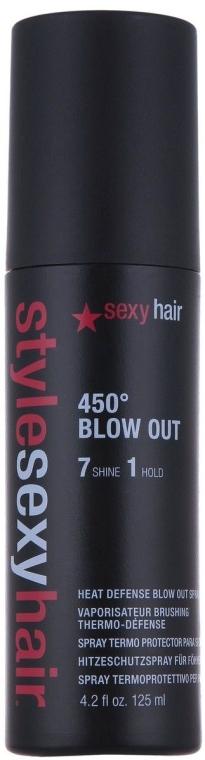 Термозащитный спрей нормальной фиксации - SexyHair StyleSexyHair 450 Blow Out Heat Defense Spray