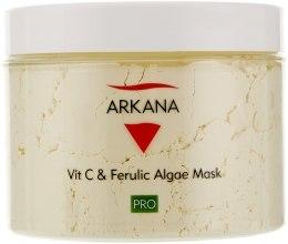 Духи, Парфюмерия, косметика Маска с феруловой кислотой и витамином С - Arkana Ferulic Algae Mask & Vit C