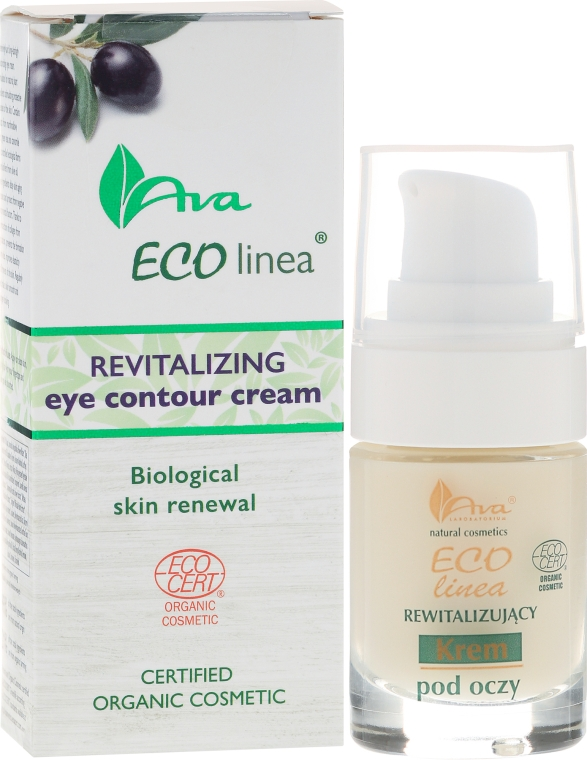 Восстанавливающий крем для глаз - Ava Laboratorium Eco Linea Revitalizing Eye Contour Cream