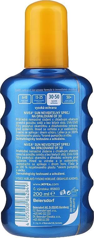 "Спрей освіжаючий сонцезахисний"" SPF 30 - Nivea Sun Care Invisible Protection Spray — фото N2"