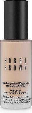 Устойчивое тональное средство - Bobbi Brown Skin Long-Wear Weightless Foundation SPF15 (тестер без коробки) — фото N1