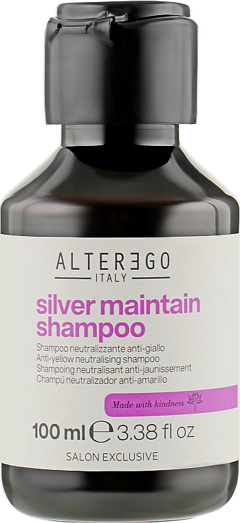 Шампунь от желтизны волос - Alter Ego Silver Maintain Shampoo