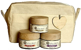 Духи, Парфюмерия, косметика Набор для сухой и нормальной кожи - Shy Deer Natural Ritual Set (cr/mask/50ml+cr/50ml+eye/cr/30ml+bag)