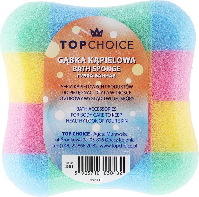 """Губка банная """"квадрат"""" 30482, разноцветная - Top Choice"""