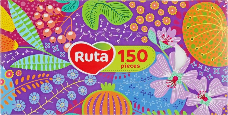 Косметические салфетки 150 шт., фиолетовая упаковка - Ruta