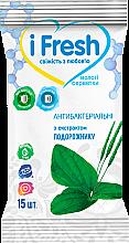 Парфумерія, косметика Вологі антибактеріальні серветки з D-пантенолом і екстрактом подорожника - IFresh