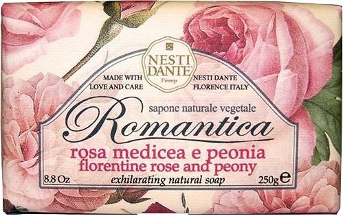 """Мыло """"Флорентийская Роза и Пионы"""" - Nesti Dante Romantica Soap"""