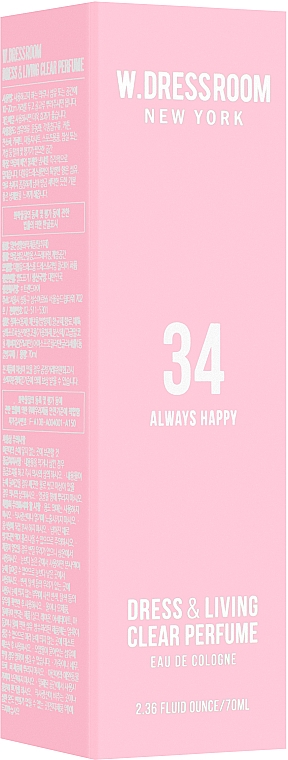 W.Dressroom Dress & Living Season 2 Clear Perfume No.34 Always Happy - Парфюмированная вода