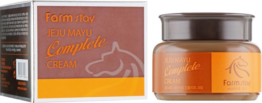Крем для лица с лошадиным маслом - FarmStay Jeju Mayu Complete Cream