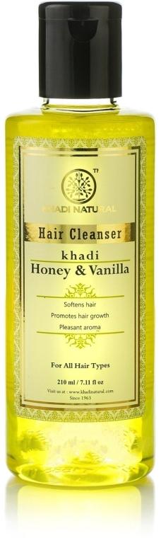 "Натуральный травяной шампунь ""Мед и ваниль"" - Khadi Natural Ayurvedic Honey & Vanilla Hair Cleanser"