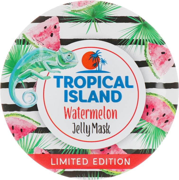 Увлажняющая гелевая маска с экстрактом арбуза - Marion Tropical Island Watermelon Jelly Mask