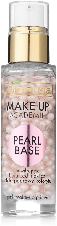 База под макияж, розовая эффект улучшения цвета лица - Bielenda Make-Up Academie Pearl Base