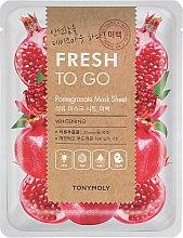 Духи, Парфюмерия, косметика Тканевая маска с экстрактом граната - Tony Moly Fresh To Go Pomegranate Mask Sheet Whitening