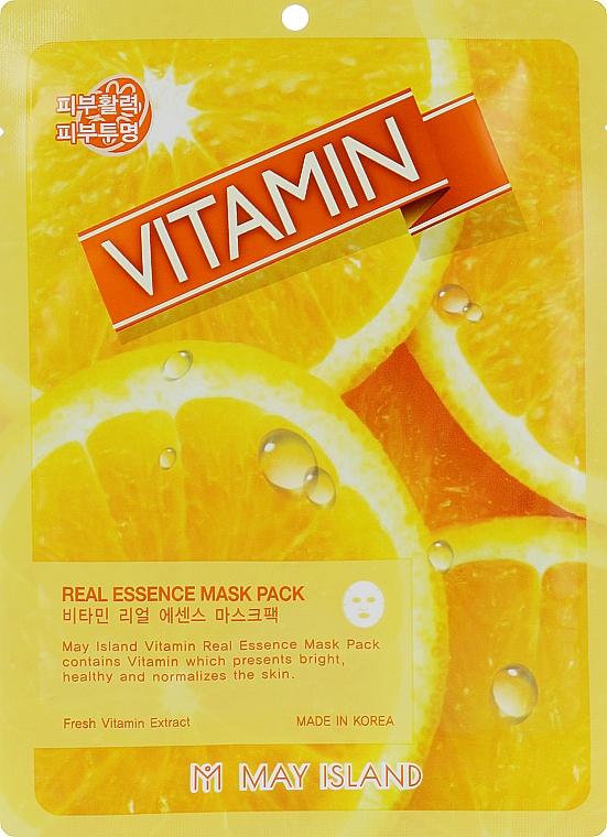 Маска для лица c витамином C - May Island Real Essence Vitamin Mask Pack