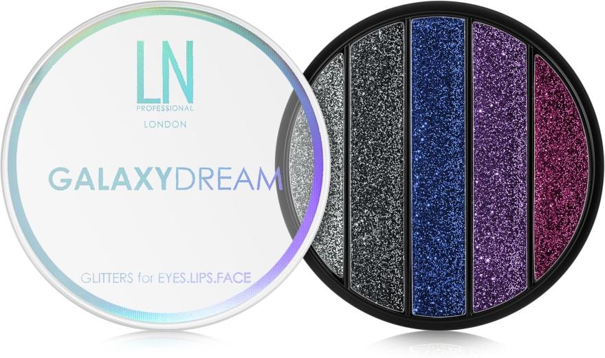 Палитра глиттеров для макияжа глаз, губ, лица - LN Professional Galaxy Dream