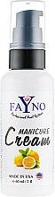 "Духи, Парфюмерия, косметика Увлажняющий крем для рук и кутикулы ""Лимон"" - Fayno Manicure Cream"