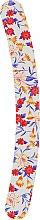 Духи, Парфюмерия, косметика Пилочка для ногтей затененная 2-функциональная изогнутая, 74776, белая с цветами - Top Choice
