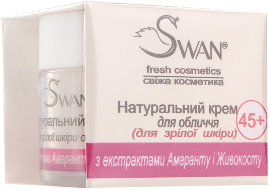 """Натуральный крем для зрелой кожи лица """"С экстрактами Амаранта и Окопника"""" - Swan Face Cream — фото N1"""