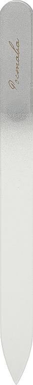 Пилочка для ногтей, хрустальная серебрянная, 135мм, черный чехол - Ростава