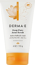 Духи, Парфюмерия, косметика Противоугревой скраб с салициловой кислотой (2%) - Derma E Anti-Acne Deep Pore Acne Scrub Salicylic Acid Acne Medication