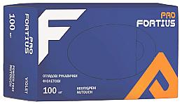 Духи, Парфюмерия, косметика Перчатки нитриловые, неопудренные, фиолетовые, размер L - Fortius Pro