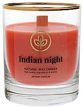 Духи, Парфюмерия, косметика Декоративная свеча в стакане, 8х9.5см - Artman Indian Night