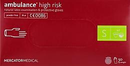 Духи, Парфюмерия, косметика Перчатки латексные, нестерильные, неприпудренные, размер S - Mercator Medical Amblance High Risk