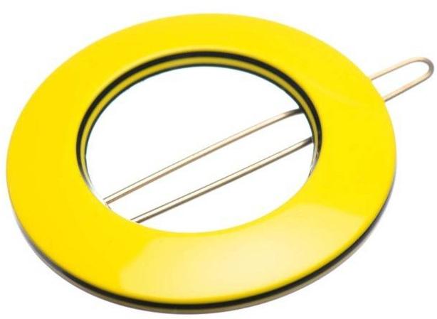 Заколка для волос LT43X43CLBY, желтая - Kosmart