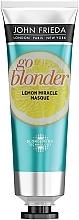 Духи, Парфюмерия, косметика Укрепляющая маска для ослабленных волос - John Frieda Sheer Blonde Go Blonder Lemon Miracle
