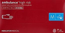 Духи, Парфюмерия, косметика Перчатки латексные, нестерильные, неприпудренные, размер М - Mercator Medical Amblance High Risk