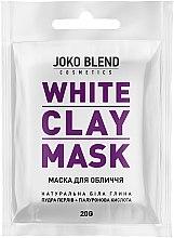 Духи, Парфюмерия, косметика Белая глиняная маска для лица - Joko Blend White Clay Mask