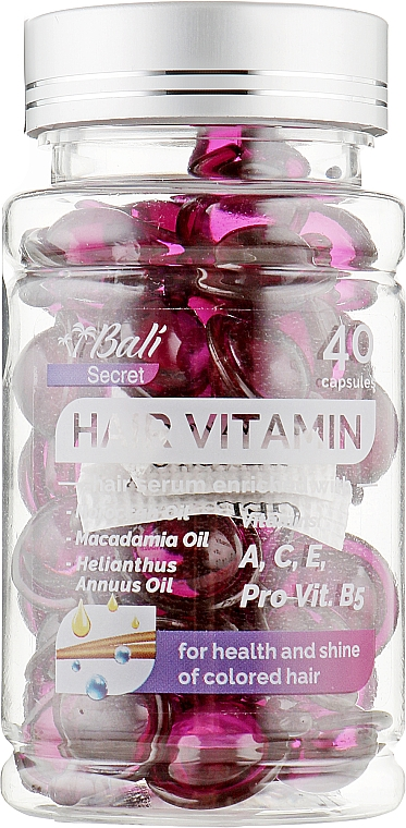 Масло для окрашенных волос - Bali Secret Hair Vitamin