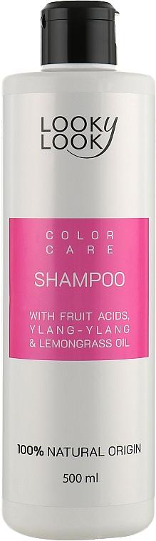 """Шампунь для окрашенных волос """"Стойкий цвет"""" с фруктовыми кислотами - Looky Look Hair Care Shampoo"""