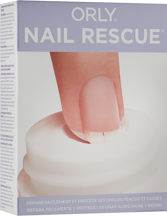 Набор - Orly Nail Rescue Kit Easily Repairs Cracked & Broken Nails (glue/5g + powder/4.25g + buffer)