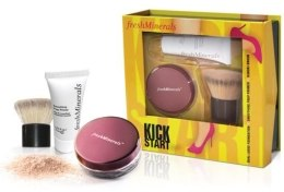 Духи, Парфюмерия, косметика Набор - Freshminerals Kick Start (Powder/6g + Base/9ml + Brush)