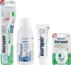 "Парфумерія, косметика Набір ""Досконалий догляд"" - Biorepair (t/paste/75ml + mouthwash/500ml + dental/floss + t/brush)"