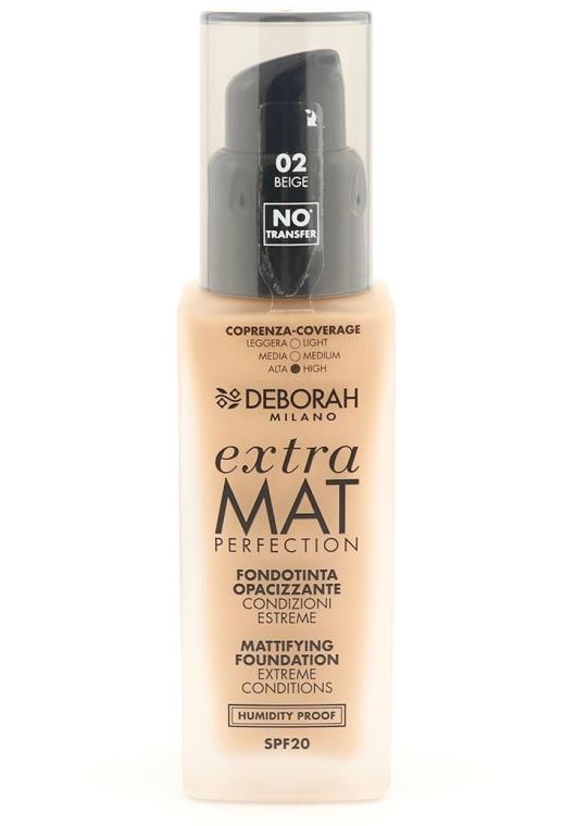 Тональная основа для лица матирующая - Deborah Extra Mat Perfection — фото N1